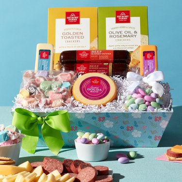 colorful sweet and savory easter gift set