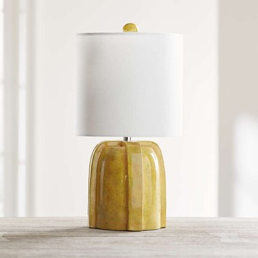 Crate and Barrel Arenson Yellow Ceramic Table Lamp