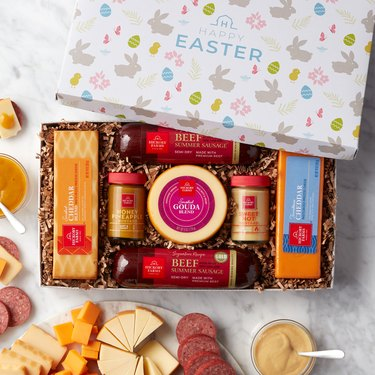 sausage and cheese Easter gift set