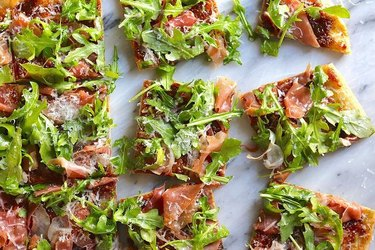 The Hungry Hutch Fig, Prosciutto, and Arugula Pizza