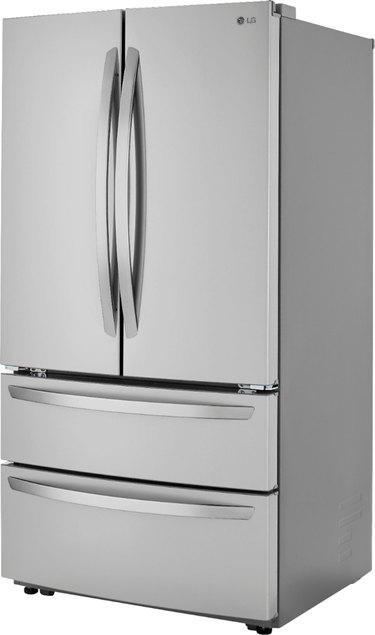 LG 4-Door French Door Refrigerator with Internal Water Dispenser in PrintProof Stainless Steel