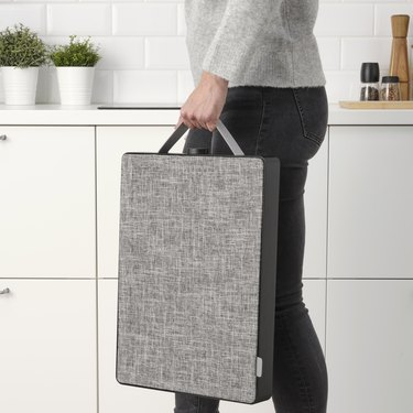person carrying air purifier