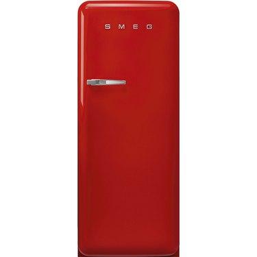 red Smeg full size refrigerator