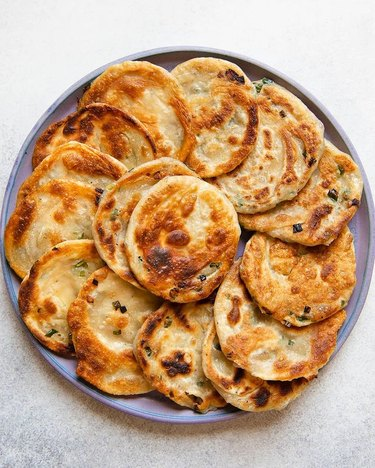 Healthy Nibbles Flaky Scallion Pancakes with Shallots