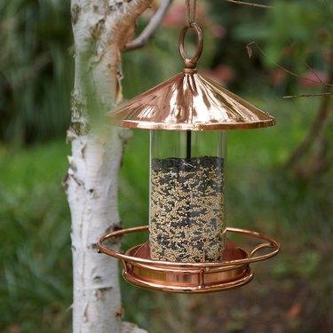 Terrain Short Solid Copper Bird Feeder