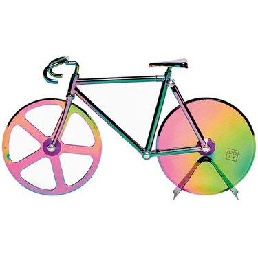 iridescent bike pizza cutter