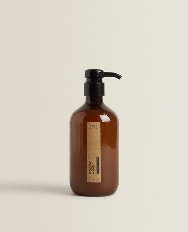 exfoliating soap in bottle