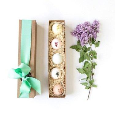 bath bomb gift set in box