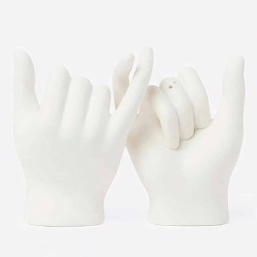 pinky swear hands salt and pepper shakers