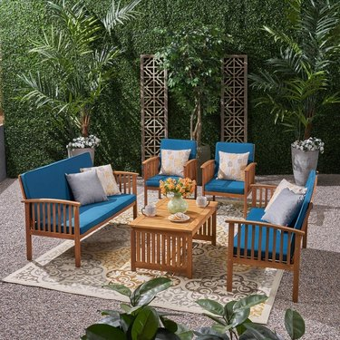 Christopher Knight Home Carolina Outdoor 6-Seater Conversation Set