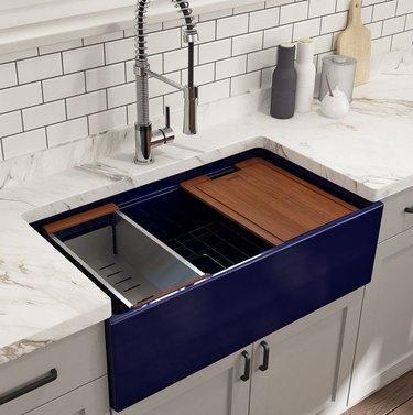 work prep apron front sink