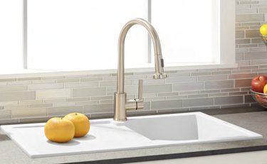 drop-in composite sink with integrated drainboard