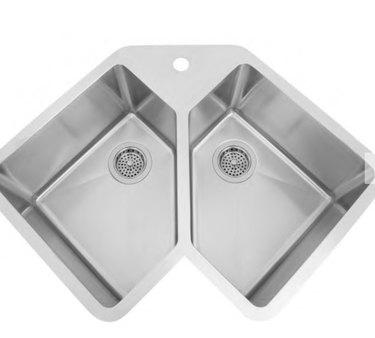 Signature Hardware Undermount Corner Sink