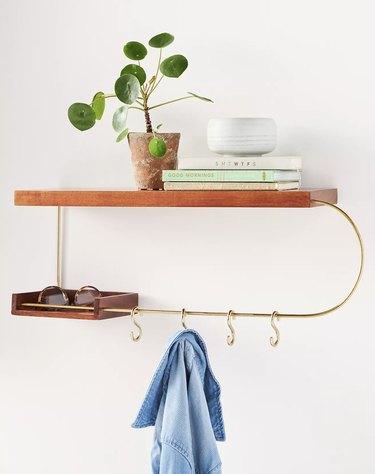 Wood Marisa Entryway Shelf