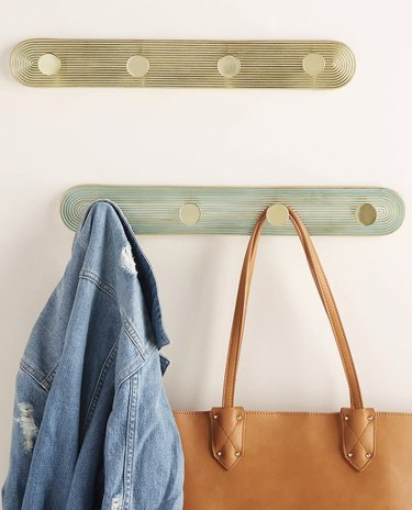 Gold and Teal Ruth Hook Rack