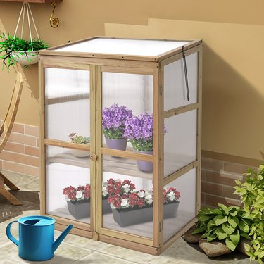Costway Cold Frame Portable Greenhouse closed
