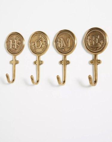 Gold Monogram Hooks