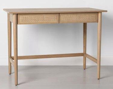 Wood & Cane Desk
