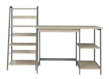 Home Office Desk and Shelf