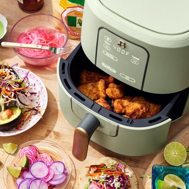 Beautiful Kitchenware Air Fryer in sage green