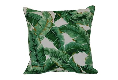 W Home Palm Leaf Square Throw Pillow