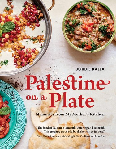 """cookbook with title """"Palestine on a Plate"""""""