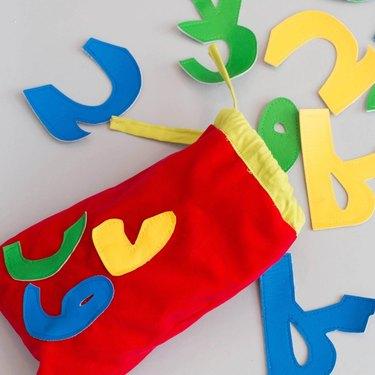 arabic alphabet bag kids toy
