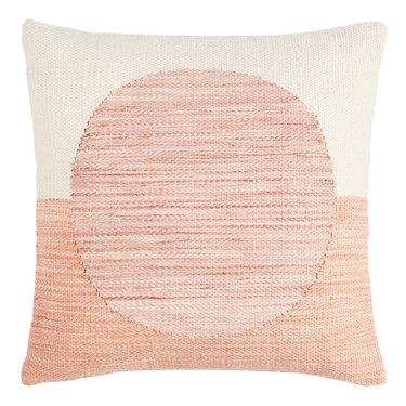 Two Toned Geo Sol Indoor Outdoor Throw Pillow