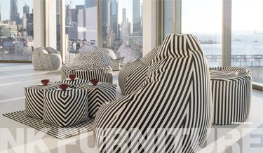 image with NK Furniture text and striped furniture pieces