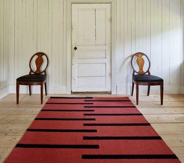 Nordic Knots tiger wool rug