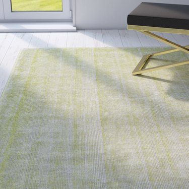 Perigold Landon Handmade Tufted Lime Silk and Cotton Area Rug