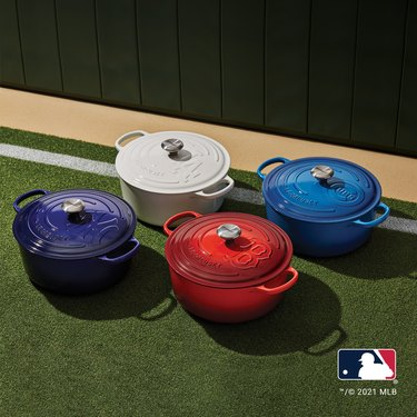 le creuset x mlb dutch oven collection