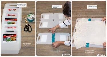 dollar tree folding board tiktok hack