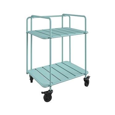 aqua bar cart