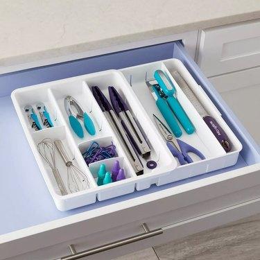 open drawer with drawer organizer