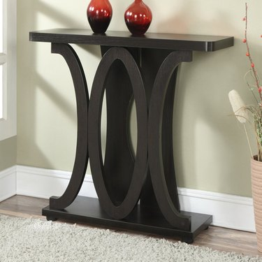 Small Entryway Table espresso