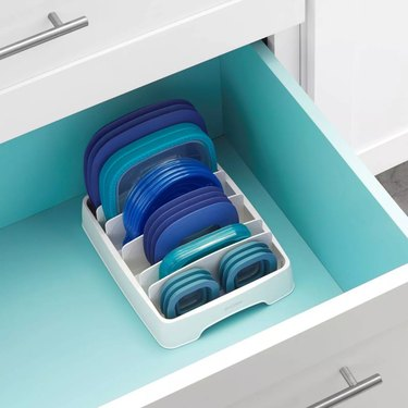 open drawer showing organizer with lids
