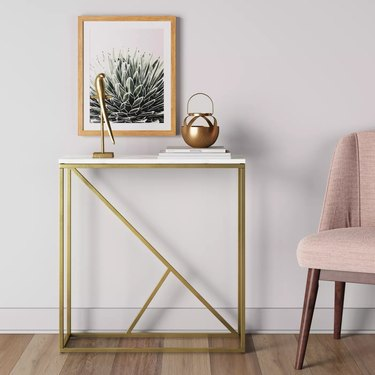 Small Entryway Table marble brass