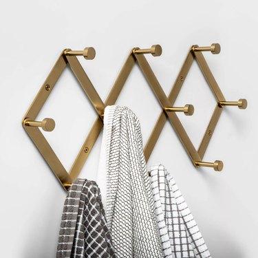 brass hook rack
