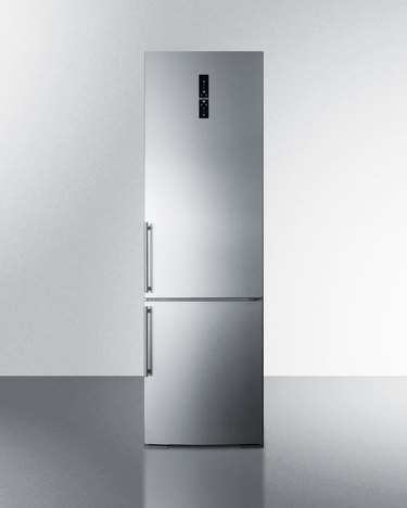 Summit 24-inch Stainless Steel Bottom 12 cu.ft. Freezer Energy Star Refrigerator
