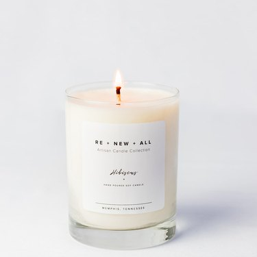 Re+New+All hibiscus candle