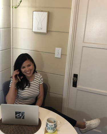 Anna Marie Cruz of Entrepinayship in her home office