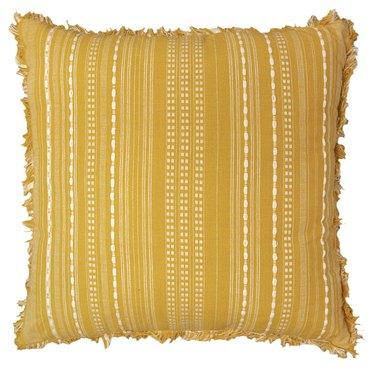 large yellow throw pillow