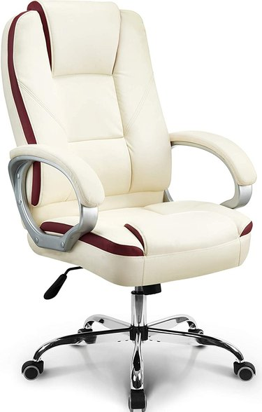 Gaming chair white and maroon