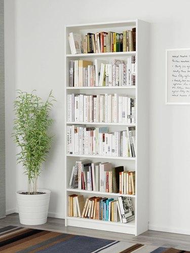 ikea white billy bookcase