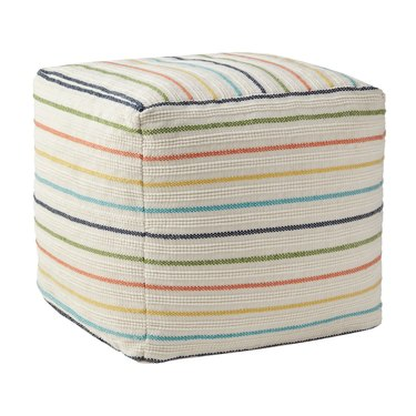 Better Homes & Gardens Stripe Outdoor Pouf