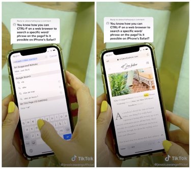 hand holding iphone for search word iphone hack
