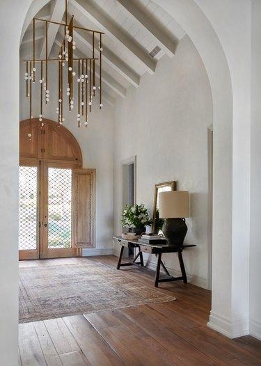 farmhouse hallway lighting chandelier