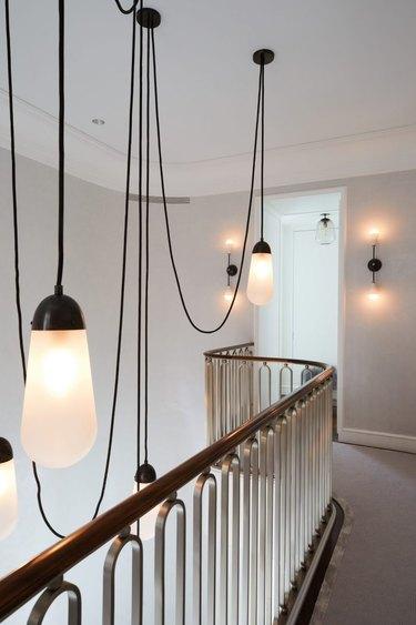 Minimalist hallway lighting pendant