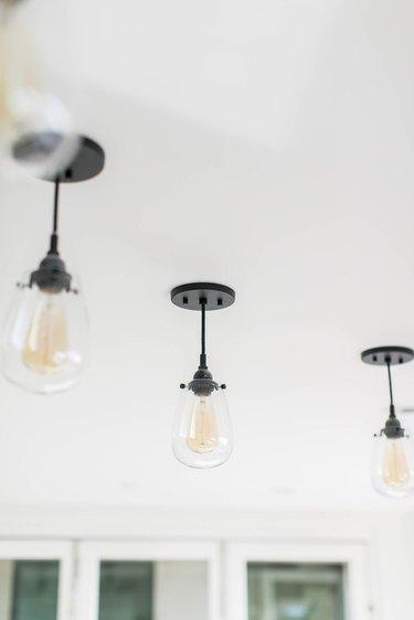 Minimalist hallway lighting teardrop pendant